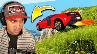 I Drove EXPENSIVE SUPERCARS Off GIANT CLIFFS... | BeamNG Drive
