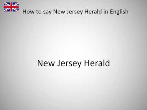How to say New Jersey Herald in English?