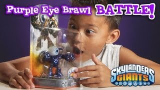 RARE Metallic PURPLE EYE BRAWL Review & Battle Mode vs. GLITTER HOT HEAD!