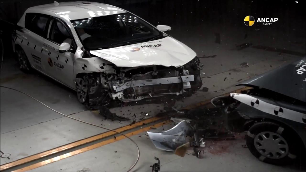 Ancap Crash Test 1998 Toyota Corolla Vs 2015 Toyota Corolla Auris