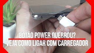 🔸 Como Ligar Celular com Carregador ⁞ BOTÃO POWER LIGA/DESLIGA QUEBRADO ( PT - BR )