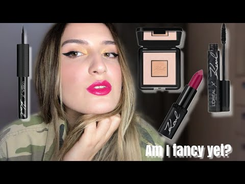 L'Oréal Paris X Karl Lagerfeld Collection Review | Lipstick, Highlighter,Eyeliner, Mascara