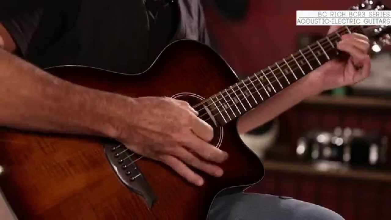 bc rich bcr3 acoustic electric guitar series youtube. Black Bedroom Furniture Sets. Home Design Ideas