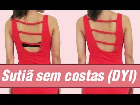 f59db1f146 Transformando sutiã velho em Sutiã sem costas (DIY) - YouTube