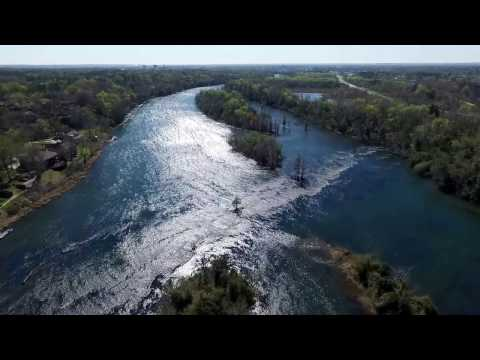 Flying Over The Savannah River and Augusta Canal