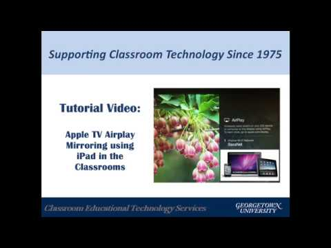 Connecting iPad using Airplay in the classroom