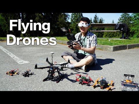 Flying DIY Drones!疯狂的自制无人机!速度快的镜头都跟不上!