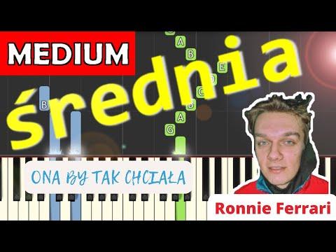 🎹 Ona by tak chciała (Ronnie Ferrari) - Piano Tutorial (średnia wersja) 🎹