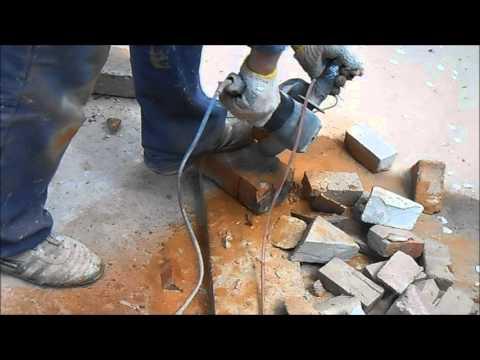 Как резать кирпич / бетон / болгаркой без пыли