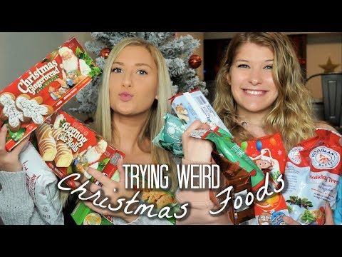 TRYING WEIRD CHRISTMAS FOODS | vlogmas day 4
