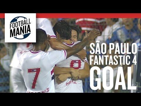 São Paulo Fantastic 4 Goal- Michel Bastos, Alan Kardec, Kaká and Ganso