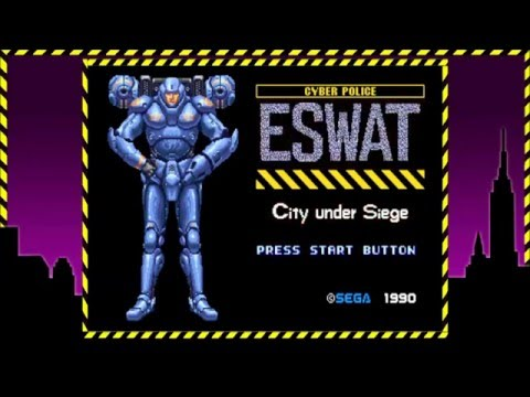 Sonic's Ultimate Genesis Collection (XBox 360)-E-SWAT (1990)-Nostalgic Notions