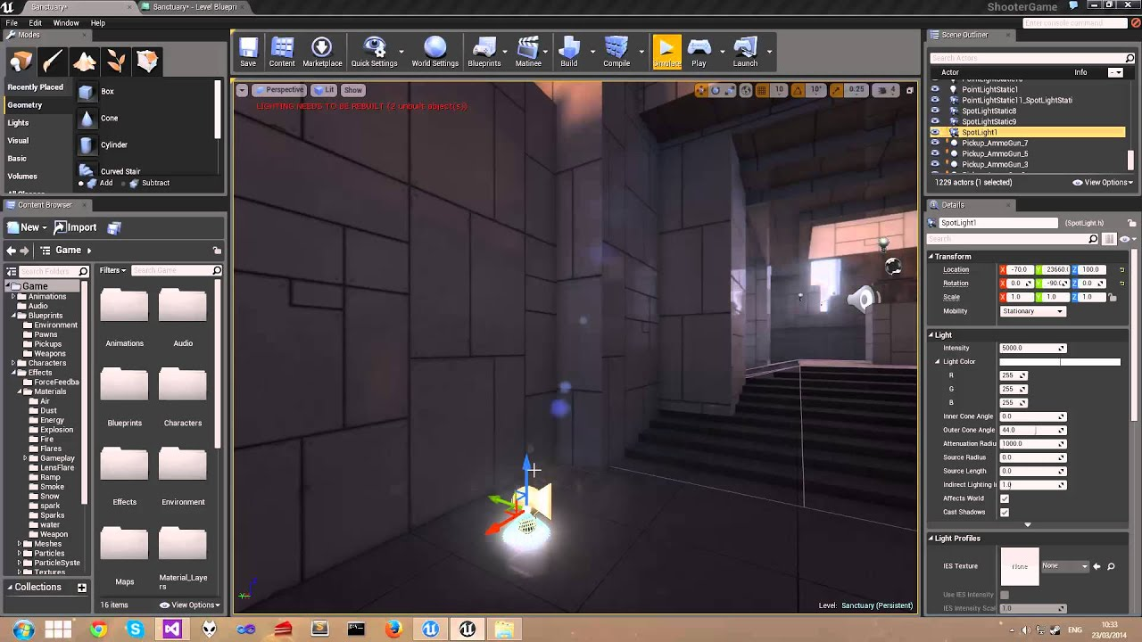 Ue4 flickering light level blueprint 3 timelines youtube ue4 flickering light level blueprint 3 timelines malvernweather Gallery