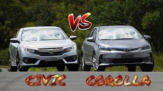 Honda Civic VS Toyota Corolla Full Comparison | Auto Car Pk.