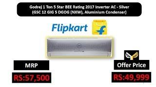 Godrej 1 Ton 5 Star BEE Rating 2017 Inverter AC - Silver (GSC 12 GIG 5 DGOG (NXW))