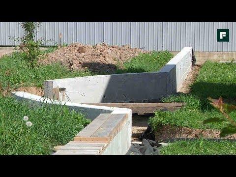 Убираем воду с участка с помощью подпорных стенок // FORUMHOUSE