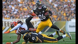 Leveon Bell Powerful Stiff Arm On Dre Kirkpatrick |Steelers Vs. Bengals|