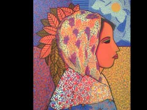 Artist Claudia Ojeda visits Bidó's Art Gallery. Santo Domingo DR