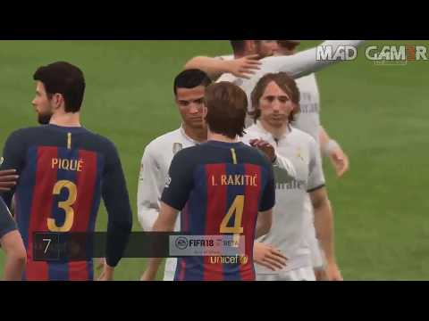 FIFA 18 Gameplay - Real Madrid vs Barcelona (Full Match)