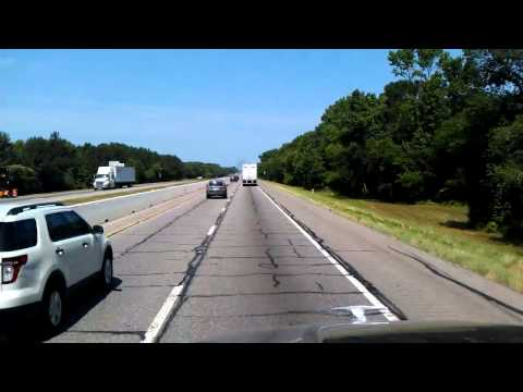 Running past Longview, Texas on Interstate 20 Westbound