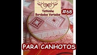 PONTO RETO DUPLO OU PONTO INCLINADO PARA CANHOTOS – Tathinha Bordados