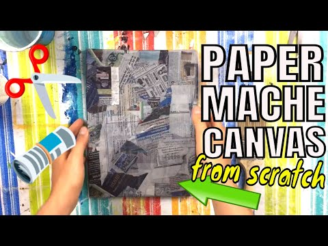 DIY Newspaper Canvas From Scratch | Paper Mache Tutorial for Beginners