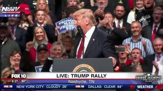 WATCH: Trump Takes A Dig At Hillary Clinton During Rally (FNN)