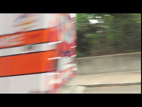 MCCABE EMS AMBULANCE, MEDIC 14, RESPONDING ON PATERSON PLANK ROAD IN JERSEY CITY, NEW JERSEY.