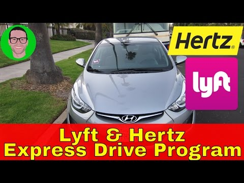 Lyft & Hertz Express Drive Rental - Free Car With 85 Trips!