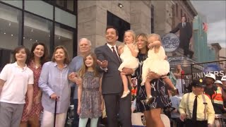 Jimmy Fallon Family at Race Through New York Starring Jimmy Fallon Opening
