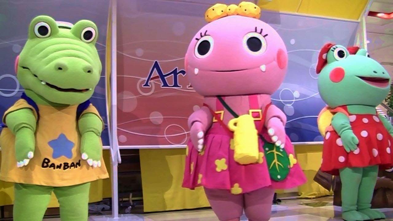 【ざわざわ森のがんこちゃん 】テレビアニメキャラクターショー☆アリオ鳳NHK Anime Gankochan character show ,  YouTube