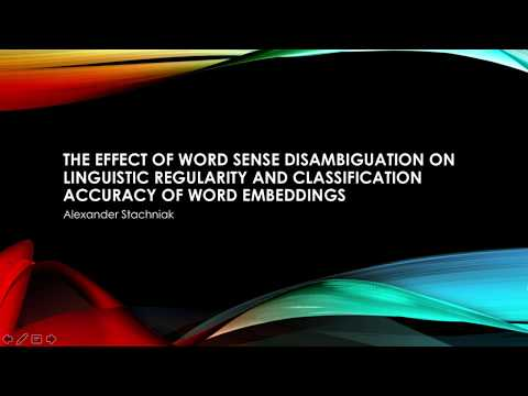 Word Sense Disambiguation on Linguistic Regularity and Classification Accuracy of Word Embeddings
