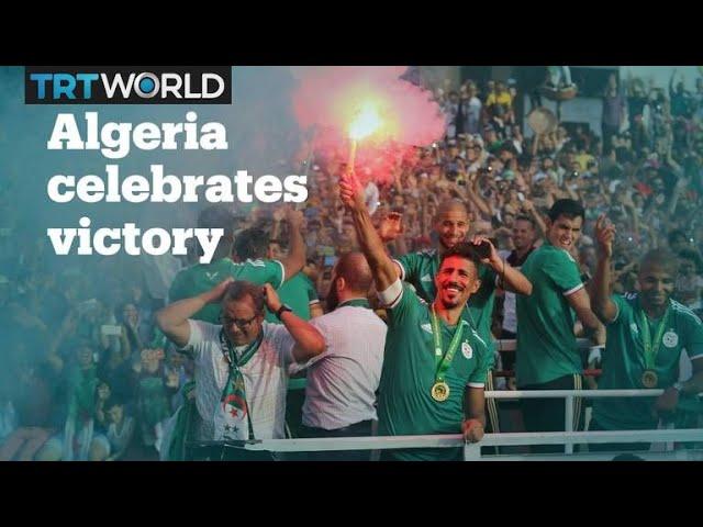 Algerians celebrate return of AFCON winning national team