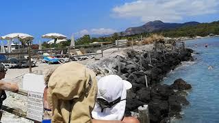 Hot spring of Vulcano island,Isole Eolie.エオリア諸島、ブルカノ島の泥湯。