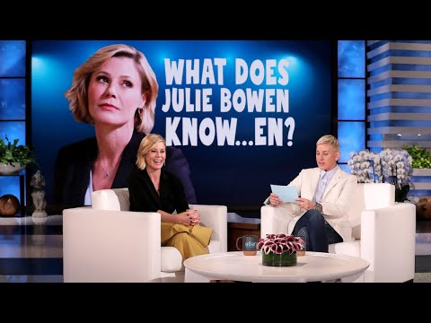 Julie Bowen Lies to Ellen in 'What Does Julie Bowen Know... en?'
