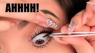 APPLYING FALSIES UNDERNEATH LASH!