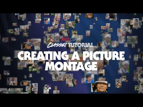 Classic Tutorial | Creating a 3D Picture Montage with Trapcode Particular
