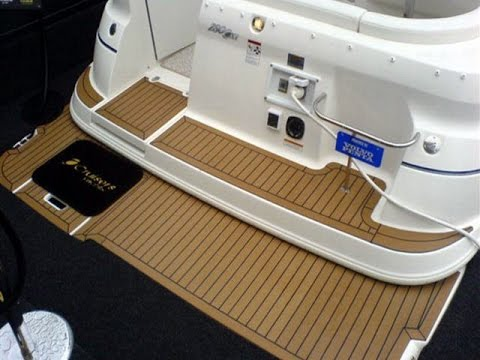 replacing carpet in boat with teak - YouTube