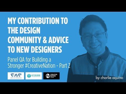 Contribution to Design Community & Advice to New Designers - GAP + CreativeNation QA Panel Part 2