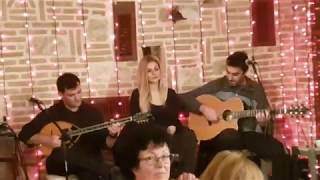 Greek fastest Bouzouki Guitar player SHREDS faster & faster lead solo in Athens, Greece