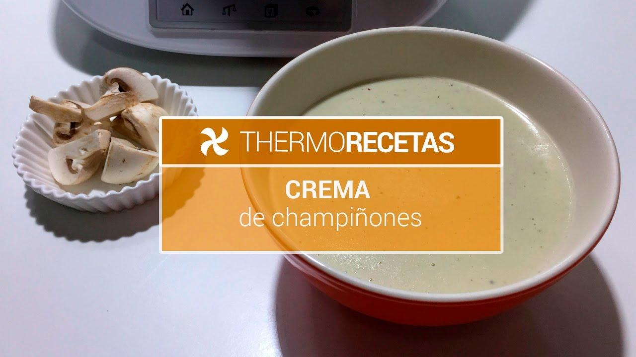 crema de setas y champinones thermomix