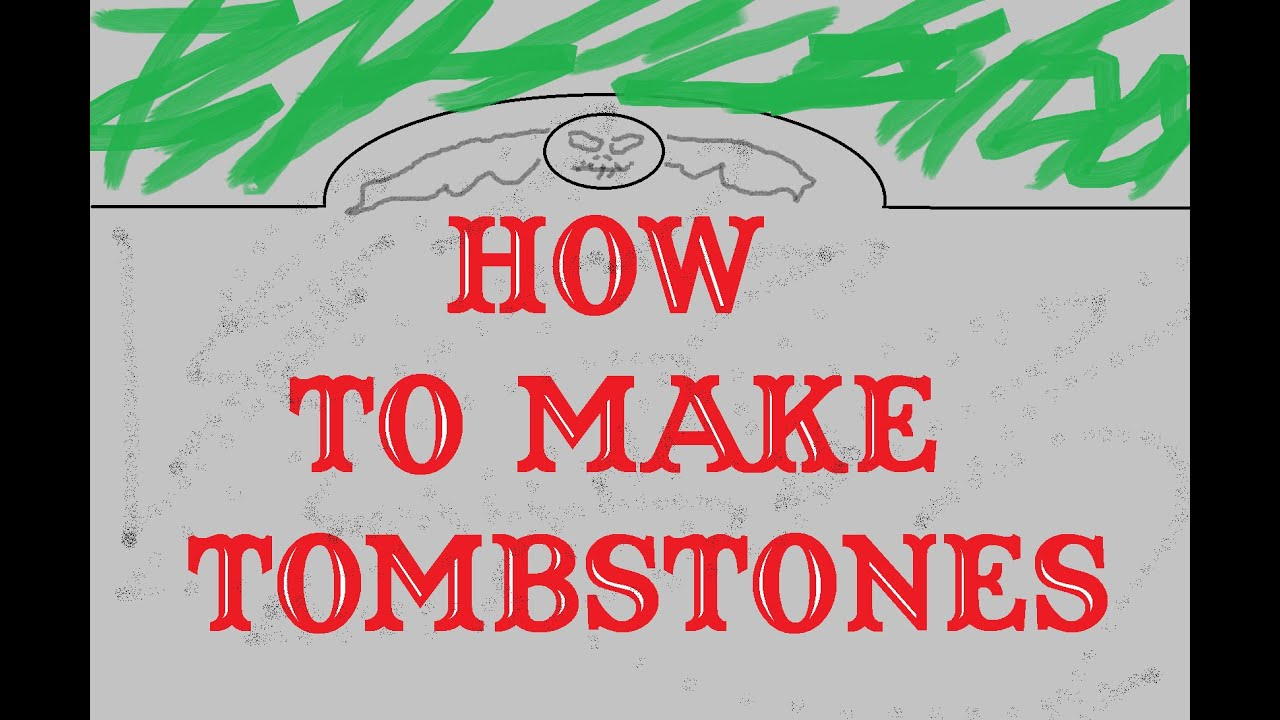How to Make Easy and Cheap Tombstones for Halloween - YouTube