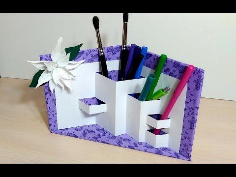 Pencil Holder -DIY! Paper organizer!