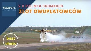 2 x PZL M18 Dromader - symulacja akcji gaśniczej - Piła 2015