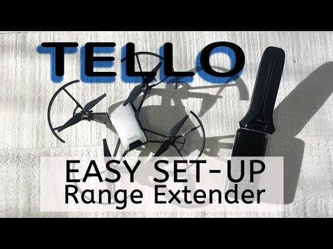 WIFI Range Extender Easy Set Up for Ryze Tello Drone - YouTube