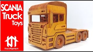 How To Make Wooden Toy Truck - Scania