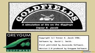 Goldfields gameplay (PC Game, 1990)