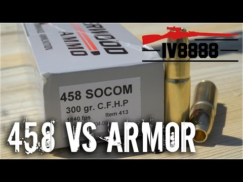 AR500 Armor vs 458 SOCOM