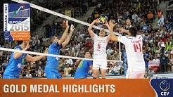 2015 Men's EuroVolley - Highlights Gold medal match France vs Slovenia