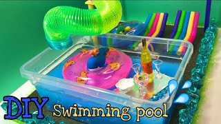 DIY MINIATURE DOLLHOUSE - Swimming pool